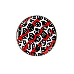 Red Playful Design Hat Clip Ball Marker (10 Pack) by Valentinaart