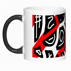 Red Playful Design Morph Mugs by Valentinaart