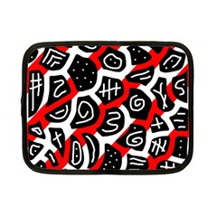 Red Playful Design Netbook Case (small)  by Valentinaart