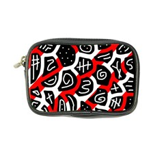Red Playful Design Coin Purse by Valentinaart