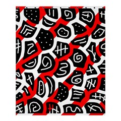 Red Playful Design Shower Curtain 60  X 72  (medium)  by Valentinaart