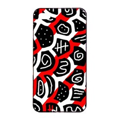 Red Playful Design Apple Iphone 4/4s Seamless Case (black) by Valentinaart