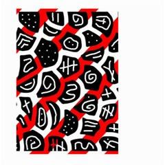 Red Playful Design Large Garden Flag (two Sides) by Valentinaart