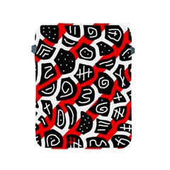 Red Playful Design Apple Ipad 2/3/4 Protective Soft Cases by Valentinaart
