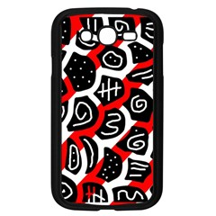 Red Playful Design Samsung Galaxy Grand Duos I9082 Case (black) by Valentinaart