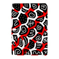 Red Playful Design Samsung Galaxy Tab Pro 12 2 Hardshell Case by Valentinaart