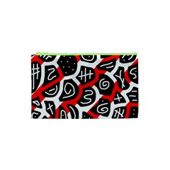 Red Playful Design Cosmetic Bag (xs) by Valentinaart
