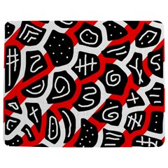 Red Playful Design Jigsaw Puzzle Photo Stand (rectangular) by Valentinaart