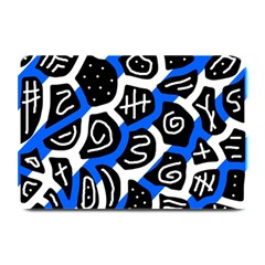 Blue Playful Design Plate Mats by Valentinaart