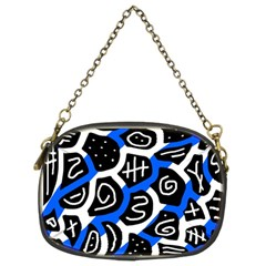 Blue Playful Design Chain Purses (two Sides)  by Valentinaart