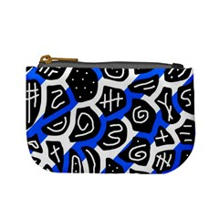 Blue Playful Design Mini Coin Purses by Valentinaart