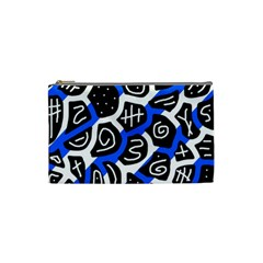 Blue Playful Design Cosmetic Bag (small)