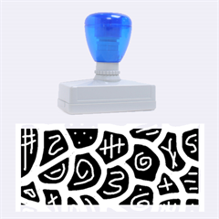 Blue Playful Design Rubber Stamps (large) by Valentinaart