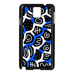 Blue Playful Design Samsung Galaxy Note 3 N9005 Case (black) by Valentinaart