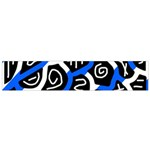 Blue playful design Flano Scarf (Small) Back