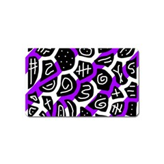 Purple Playful Design Magnet (name Card) by Valentinaart