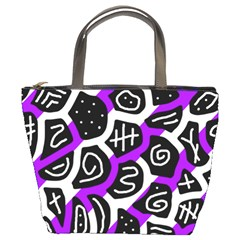 Purple Playful Design Bucket Bags by Valentinaart