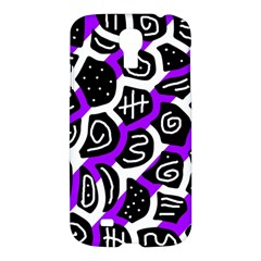 Purple Playful Design Samsung Galaxy S4 I9500/i9505 Hardshell Case by Valentinaart