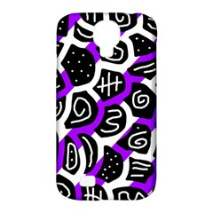 Purple Playful Design Samsung Galaxy S4 Classic Hardshell Case (pc+silicone) by Valentinaart