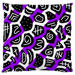 Purple Playful Design Standard Flano Cushion Case (one Side) by Valentinaart
