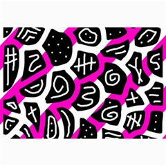 Magenta Playful Design Collage Prints by Valentinaart