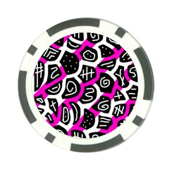 Magenta Playful Design Poker Chip Card Guards (10 Pack)  by Valentinaart
