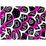 Magenta playful design BOY 3D Greeting Card (7x5) Back
