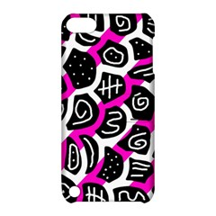 Magenta Playful Design Apple Ipod Touch 5 Hardshell Case With Stand by Valentinaart