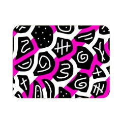 Magenta Playful Design Double Sided Flano Blanket (mini)  by Valentinaart