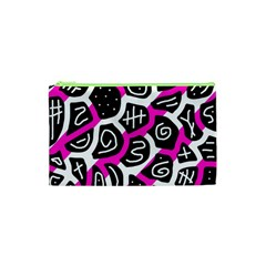 Magenta Playful Design Cosmetic Bag (xs) by Valentinaart