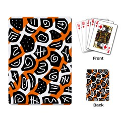 Orange Playful Design Playing Card by Valentinaart