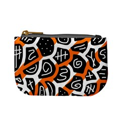 Orange Playful Design Mini Coin Purses by Valentinaart