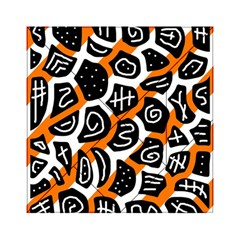 Orange Playful Design Acrylic Tangram Puzzle (6  X 6 ) by Valentinaart