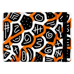 Orange Playful Design Samsung Galaxy Tab Pro 12 2  Flip Case by Valentinaart