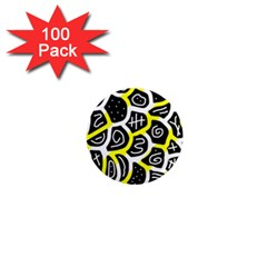Yellow Playful Design 1  Mini Magnets (100 Pack)  by Valentinaart