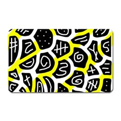 Yellow Playful Design Magnet (rectangular) by Valentinaart