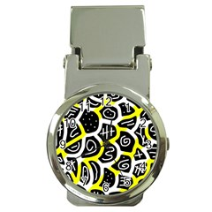Yellow Playful Design Money Clip Watches by Valentinaart