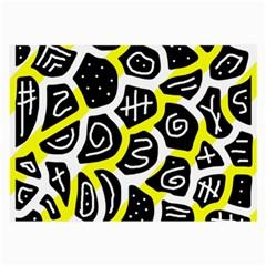 Yellow Playful Design Large Glasses Cloth (2 Side) by Valentinaart