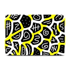 Yellow Playful Design Plate Mats by Valentinaart
