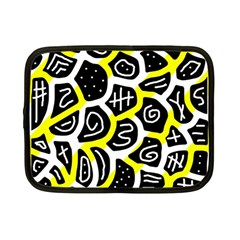 Yellow Playful Design Netbook Case (small)  by Valentinaart