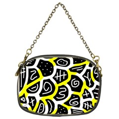 Yellow Playful Design Chain Purses (two Sides)  by Valentinaart