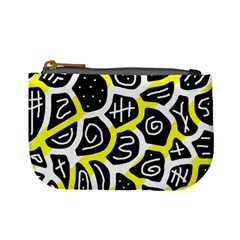 Yellow Playful Design Mini Coin Purses by Valentinaart