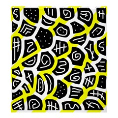Yellow Playful Design Shower Curtain 66  X 72  (large)  by Valentinaart