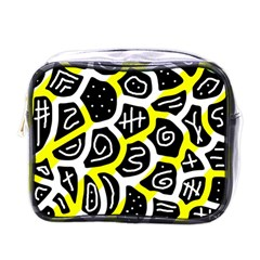 Yellow Playful Design Mini Toiletries Bags by Valentinaart