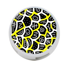 Yellow Playful Design 4 Port Usb Hub (two Sides)  by Valentinaart