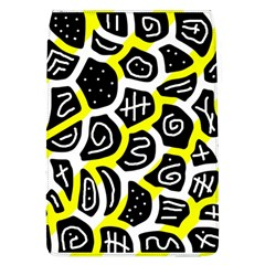 Yellow Playful Design Flap Covers (l)  by Valentinaart