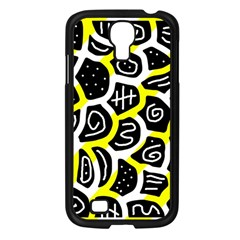 Yellow Playful Design Samsung Galaxy S4 I9500/ I9505 Case (black) by Valentinaart