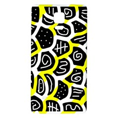 Yellow Playful Design Galaxy Note 4 Back Case by Valentinaart
