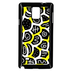 Yellow Playful Design Samsung Galaxy Note 4 Case (black) by Valentinaart