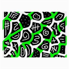 Green Playful Design Large Glasses Cloth by Valentinaart